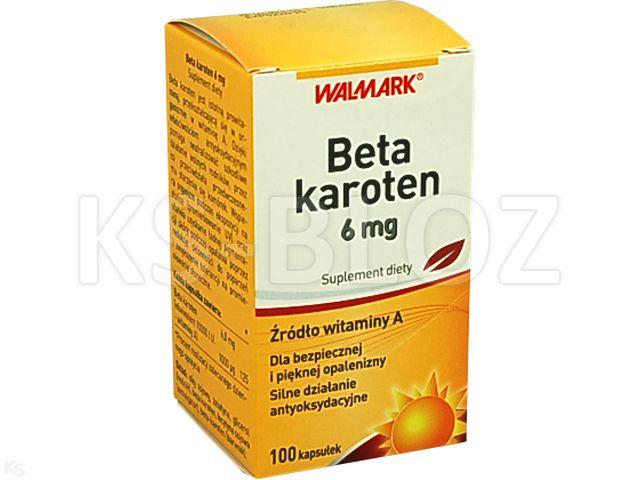 Beta-Karoten 6 mg interakcje ulotka kapsułki  100 kaps.