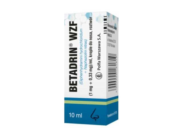 Betadrin WZF interakcje ulotka krople do nosa, roztwór (1mg+0,33mg)/ml 10 ml