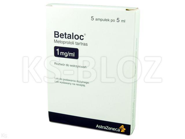 Betaloc interakcje ulotka roztwór do wstrzykiwań 1 mg/ml 5 amp. po 5 ml