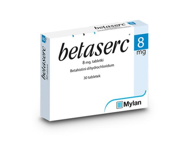 Betaserc interakcje ulotka tabletki 8 mg 30 tabl.