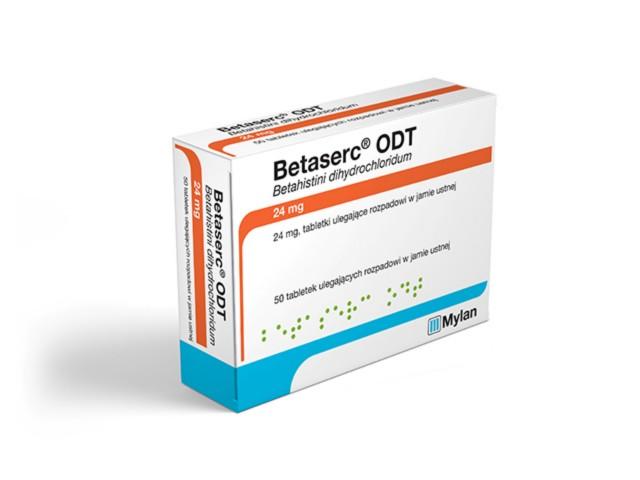 Betaserc ODT interakcje ulotka tabletki ulegające rozpadowi w jamie ustnej 0,024 g 20 tabl.