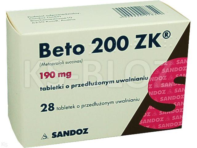Beto 200 ZK interakcje ulotka tabletki o przedłużonym uwalnianiu 0,19 g 28 tabl.