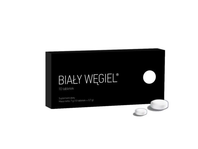 Biały Węgiel interakcje ulotka tabletki  10 tabl.