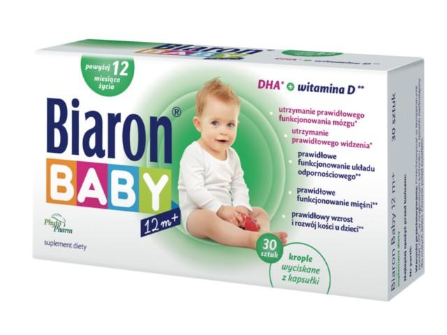 Biaron Baby 12M+ interakcje ulotka kapsułki twist-off  30 kaps.