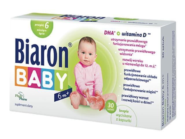 Biaron Baby 6M+ interakcje ulotka kapsułki twist-off  30 kaps.