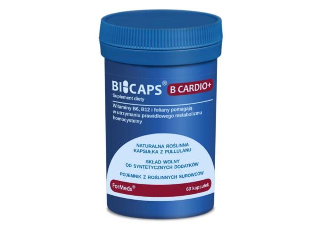 BICAPS B CARDIO+ interakcje ulotka kapsułki  60 kaps.