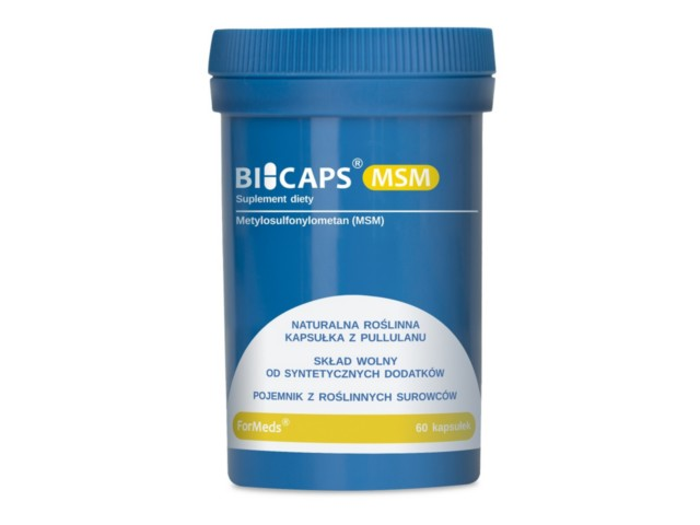 BICAPS MSM interakcje ulotka kapsułki  60 kaps.