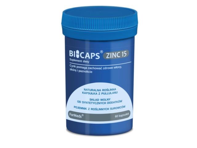 BICAPS ZINC 15 interakcje ulotka kapsułki  60 kaps.