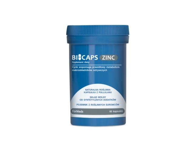 BICAPS ZINC interakcje ulotka kapsułki  60 kaps.