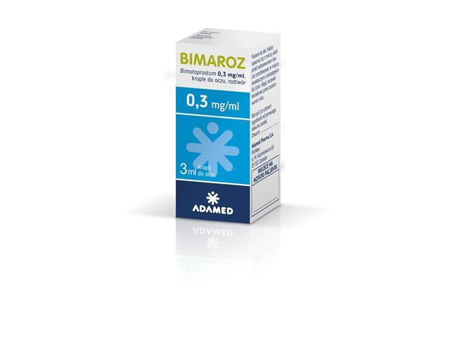 Bimaroz interakcje ulotka krople do oczu, roztwór 0,3 mg/ml 1 but. po 3 ml