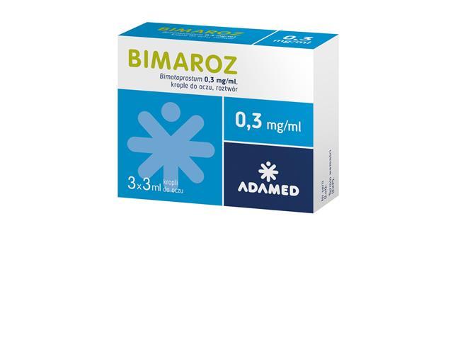 Bimaroz interakcje ulotka krople do oczu, roztwór 0,3 mg/ml 3 but. po 3 ml