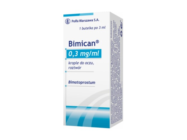 Bimican interakcje ulotka krople do oczu, roztwór 0,3 mg/ml 1 but. po 3 ml