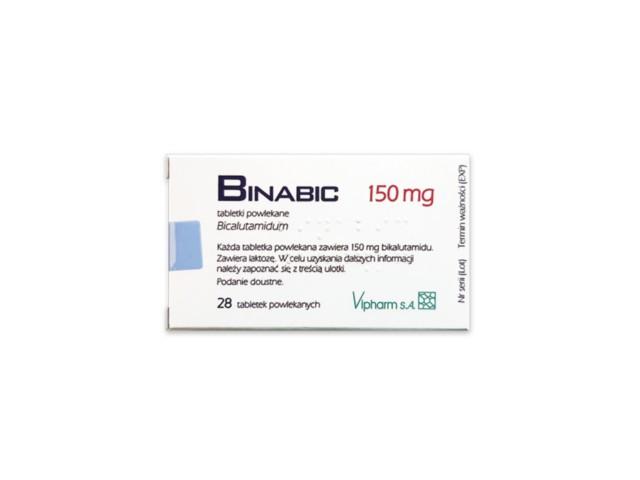Binabic interakcje ulotka tabletki powlekane 0,15 g 28 tabl. | 2 blist.po 14 szt.