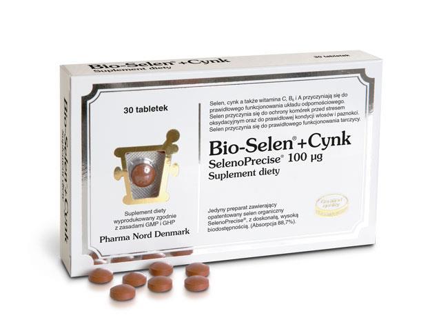 Bio-Selen+Cynk interakcje ulotka tabletki  30 tabl.