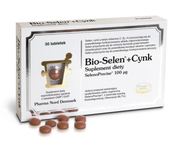Bio-Selen + Cynk interakcje ulotka   30 tabl.