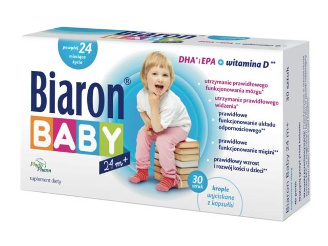Bioaron Baby od 24 m-ca interakcje ulotka kapsułki twist-off  30 kaps.