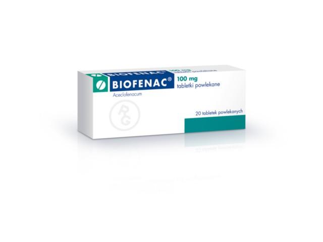 Biofenac interakcje ulotka tabletki powlekane 0,1 g 20 tabl.