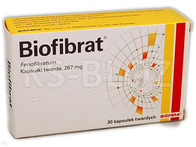 Biofibrat interakcje ulotka kapsułki twarde 0,267 g 30 kaps.