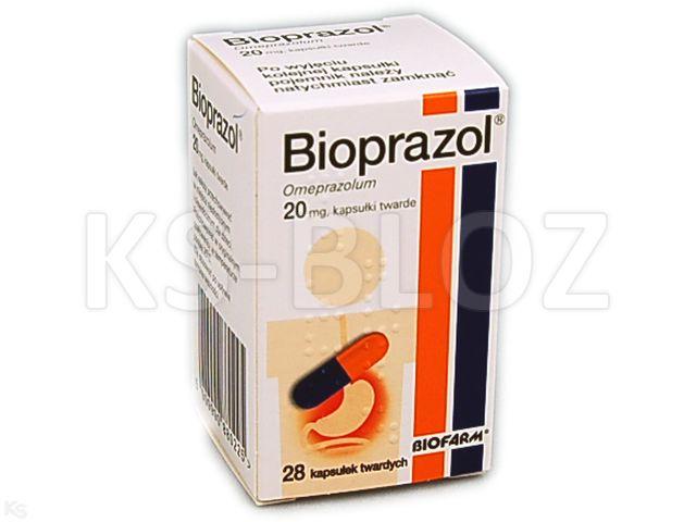 Bioprazol interakcje ulotka kapsułki dojelitowe twarde 0,02 g 28 kaps.
