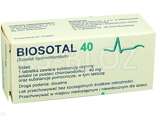 Biosotal 40 interakcje ulotka tabletki 0,04 g 60 tabl.