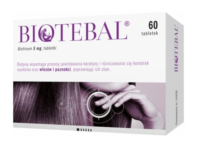 Biotebal interakcje ulotka tabletki 5 mg 60 tabl.