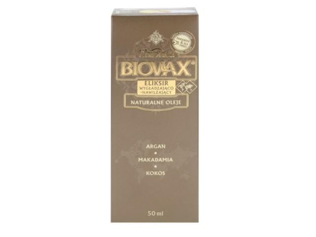 BIOVAX Eliksir ARGAN MAKADAMIA KOKOS (olejek) d/wł. interakcje ulotka   50 ml