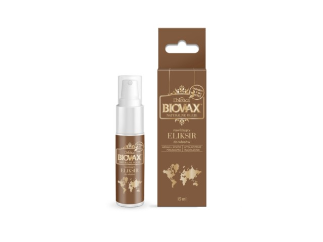 BIOVAX Eliksir ARGAN MAKADAMIA KOKOS (olejek) d/wł. interakcje ulotka   15 ml