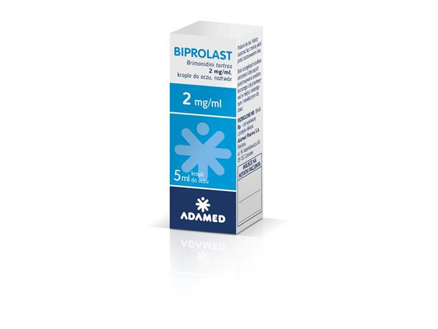 Biprolast interakcje ulotka krople do oczu, roztwór 2 mg/ml 5 ml