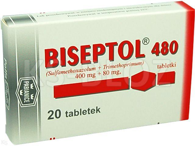 Biseptol 480 interakcje ulotka tabletki 0,4g+0,08g 20 tabl.