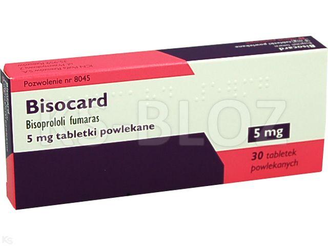 Bisocard interakcje ulotka tabletki powlekane 5 mg 30 tabl.