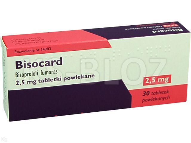 Bisocard interakcje ulotka tabletki powlekane 2,5 mg 30 tabl.