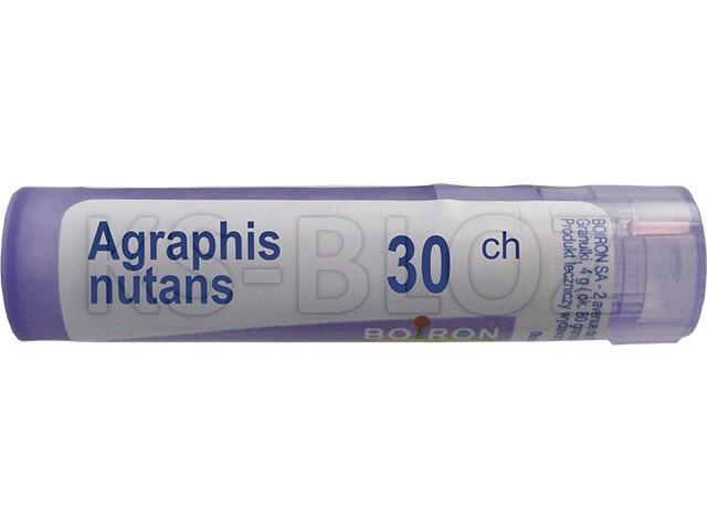 BOIRON Agraphis nutans 30 CH interakcje ulotka granulki  4 g