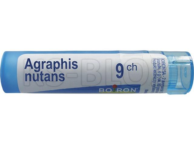 BOIRON Agraphis nutans 9 CH interakcje ulotka granulki  4 g