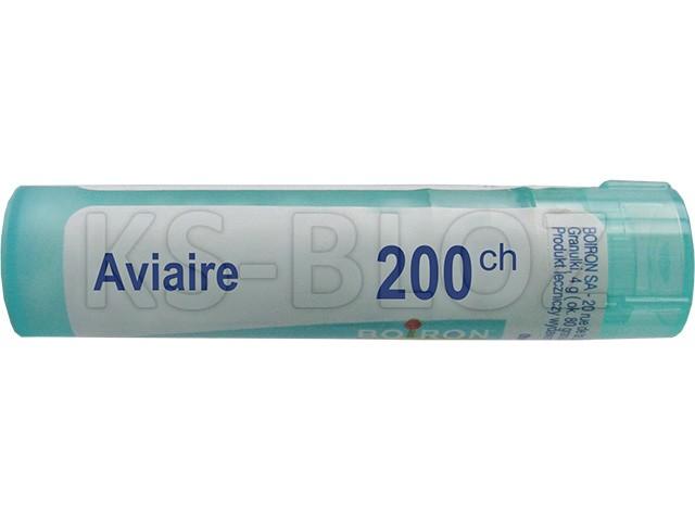 BOIRON Aviaire 200 CH interakcje ulotka granulki  4 g