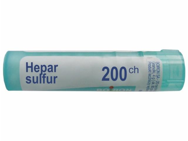 BOIRON Hepar Sulfur 200 CH interakcje ulotka granulki  4 g