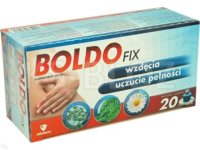 BOLDOFIX Herbatka zioł. interakcje ulotka zioła do zaparzania w saszetkach  20 sasz.