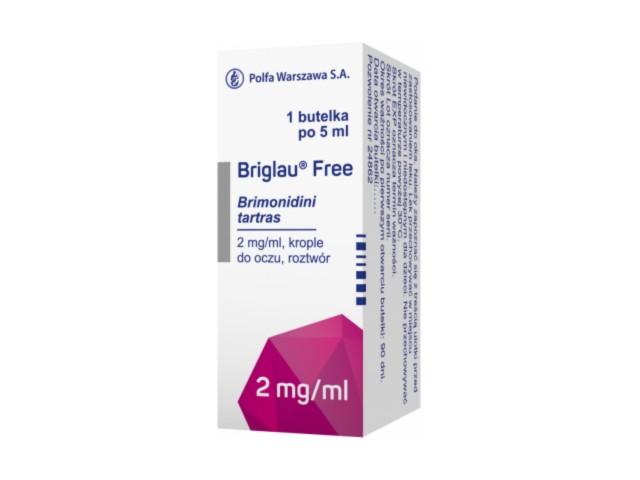 Briglau Free interakcje ulotka krople do oczu, roztwór 2 mg/ml 1 but. po 5 ml