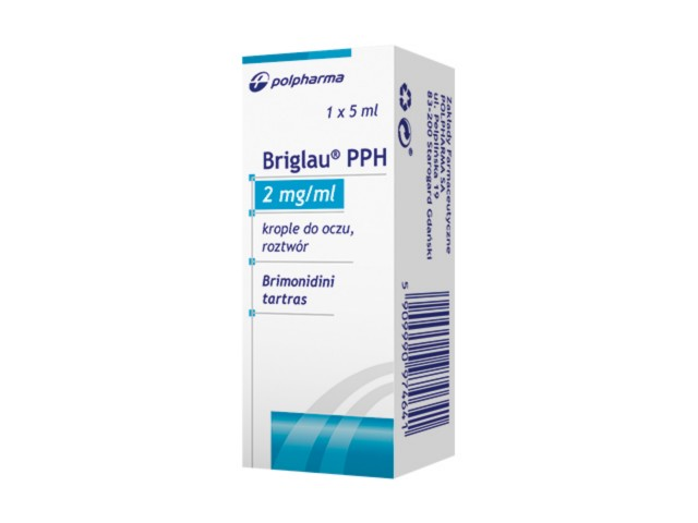 Briglau PPH interakcje ulotka krople do oczu 2 mg/ml 5 ml
