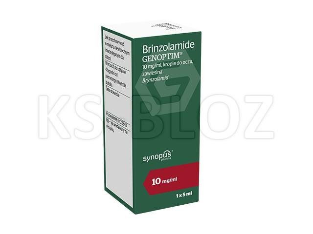 Brinzolamide Genoptim interakcje ulotka krople do oczu, zawiesina 0,01 g/ml 1 but. po 5 ml