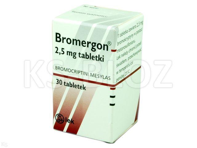 Bromergon interakcje ulotka tabletki 2,5 mg 30 tabl.