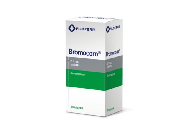 Bromocorn interakcje ulotka tabletki 2,5 mg 30 tabl.