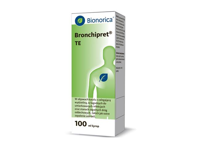 Bronchipret TE interakcje ulotka syrop 15g+1,5g 1 but. po 100 ml