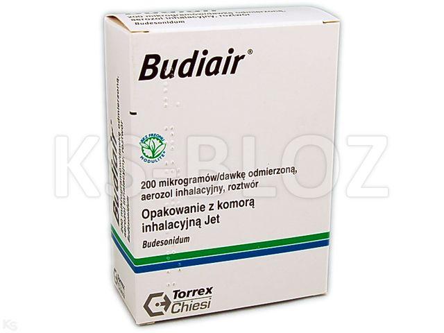 Budiair interakcje ulotka aerozol wziewny, roztwór 0,2 mg/daw. 1 poj. po 200 daw.