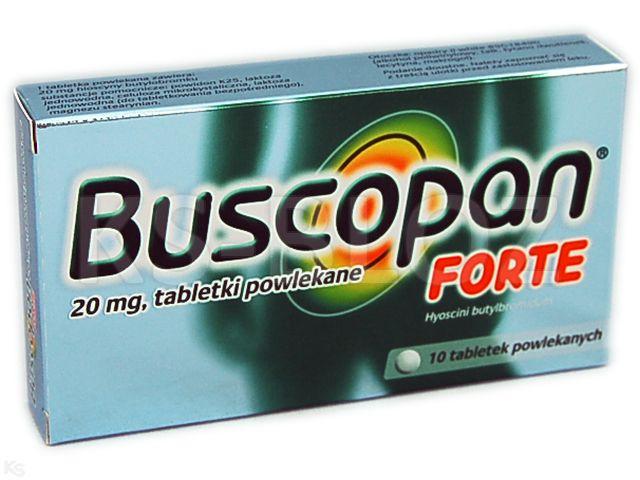 Buscopan Forte interakcje ulotka tabletki powlekane 0,02 g 10 tabl.