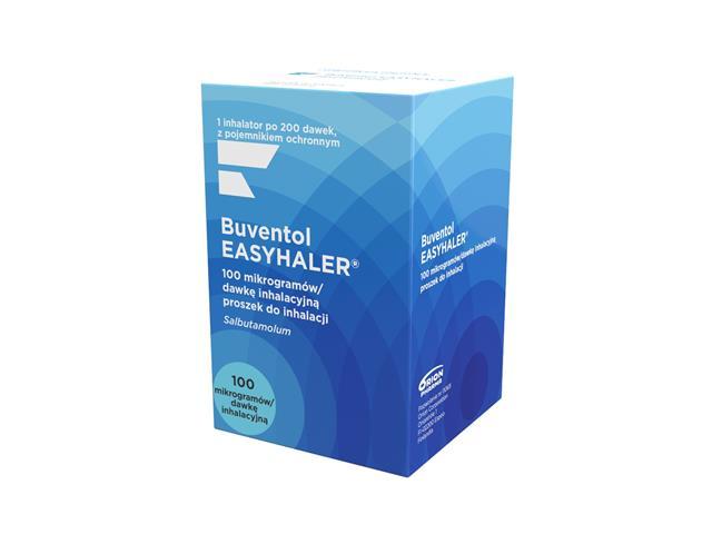 Buventol Easyhaler interakcje ulotka proszek do inhalacji 0,1 mg/daw. 1 inhal. po 200 daw.