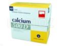 Calcium 500D interakcje ulotka proszek musujący 0,5g+250j.m.+0,06g 60 sasz.