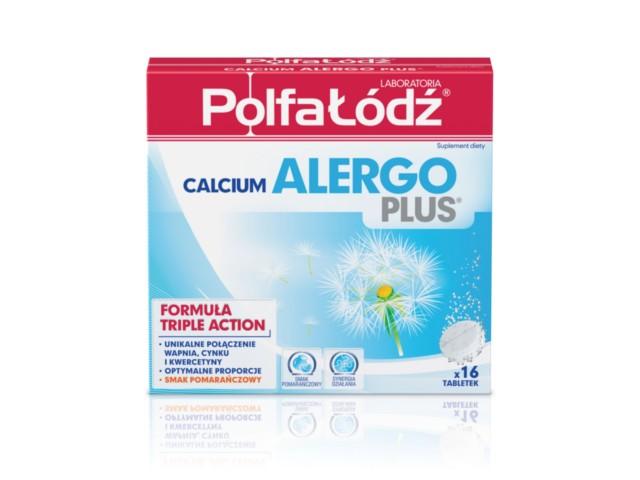Calcium Alergo PLUS Laboratoria PolfaŁódź interakcje ulotka tabletki musujące  16 tabl.
