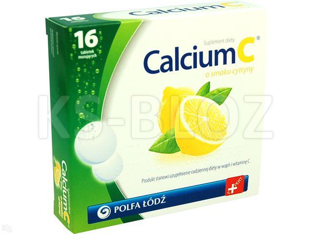 CALCIUM C CYTRYNA Laboratoria PolfaŁódź interakcje ulotka tabletki musujące  16 tabl.
