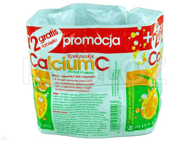 Calcium C sm.pomarańcz. interakcje ulotka tabletki musujące  14 tabl.