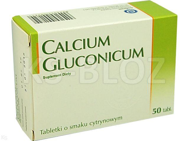 Calcium gluconicum sm.cytryn. interakcje ulotka tabletki powlekane 0,045 g 50 tabl.